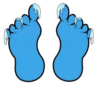 Reflexology helps cold feet